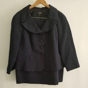 [Kasper] Womens Navy Skirt Suit Petite